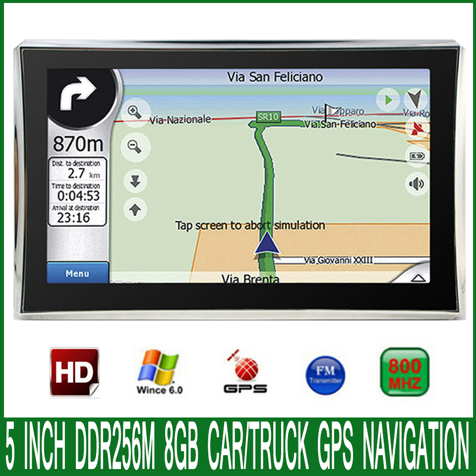 GPS Navigation 5inch 256M Europe/usa MTK Car HD for Ms2531-Os Ce-6.0 Maps 8GB/DDR Newest