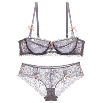 High-end brand  romantic temptation lace bra set  women underwear set push up lade bra and panty set plus size 70-95ABCD - DISCOUNT ITEM  60% OFF All Category