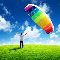 Kostenloser versand dual line parafoil kite flying werkzeuge linie power braid segeln kitesurf regenbogen outdoor spielzeug sport strand weifang
