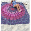 2016 New Large Bohemia Scarf Reactive Printed Spring Summer Chiffon Shawl and Wrap beach towel mandala
