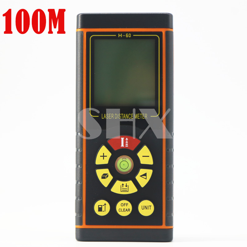 Digital Laser distance meter Laser Rangefinder Laser Range finder measure Distance/Area/Volume Level Tool 100M