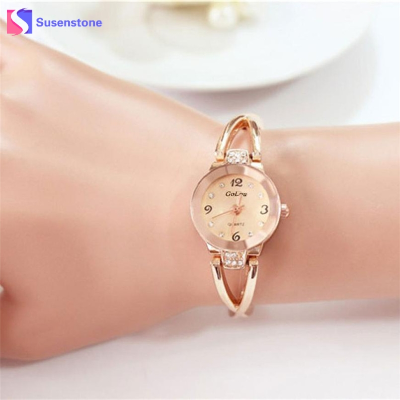 Rose Gold Luxury Women's Elegant Rhinestone Bracelet Watches Analog Quartz Clock Fashion Stainless Steel Band Small Dial Watch fashion leather watches for women analog watches elegant casual major wristwatch clock small dial mini hot sale wholesale