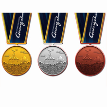custom medals cheap OEM gold silver bronze with ribbons