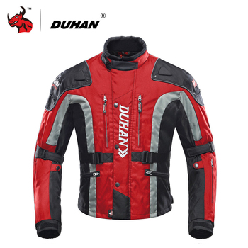 DUHAN Motorcycle Jacket Protective Gear Motocross Jacket Cotton Underwear Moto Jacket 600D Oxford Cloth Motorcycle Clothing