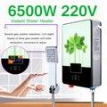 Elektrische Heißer Wasser Heizung 6500 W 220 V Tankless Instant Boiler Bad Dusche Set Thermostat Sichere Intelligente Automatisch