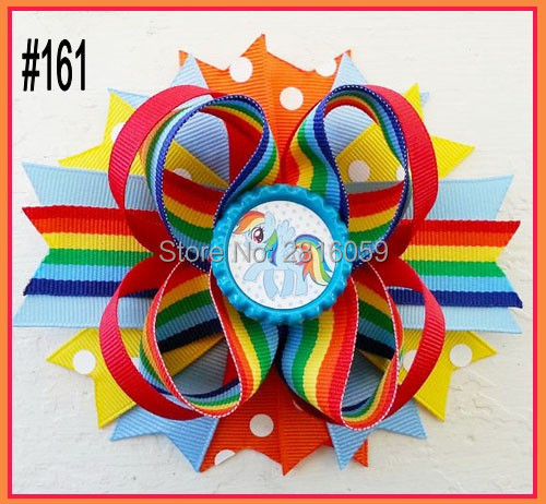 free shipping 24pcs 4 5 Inspired Boutique Layered Hair Bow birthday hair bows girl hair clips