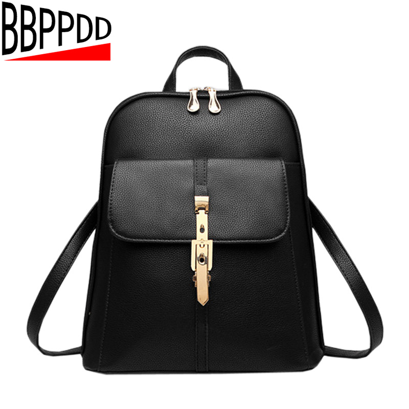Hot Sale Pu Leather Backpack Women Backpack Fashion Black Backpacks For Teenage Girls School Bags Famous Brand Women Bag Mochil annmouler famous brand women leather backpack alligator backpacks high quality elegant shoulder bag black school bag for girls