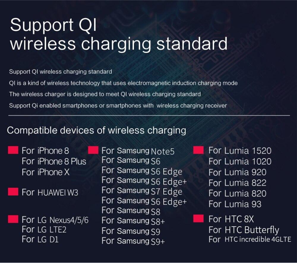 DCAE QI Wireless Charger Power Bank 10000mah External Battery Dual USB Powerbank for iphone X XS MAX XR 8 Samsung S9 S8 Xiaomi 9