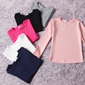 2 Anos de Idade Do Bebê Roupas Das Meninas Primavera Outono Camisolas Dos Miúdos Das Crianças Pullover Quente Camisola De Manga Comprida Outerwear Camisola de Algodão