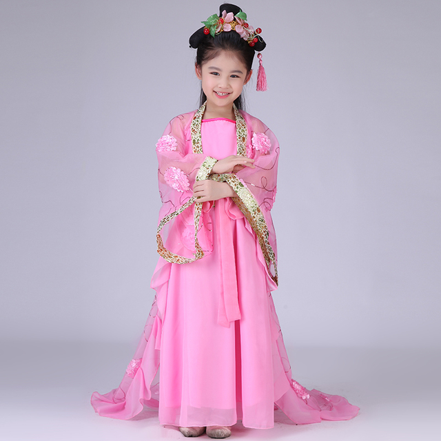 9b685a63021f Royal Children Empress Wu Zetian Costume Girl Chines Traditional ...