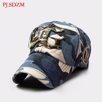 PJ.SDZM Men's Summer New Arrival Fashionable Baseball Cap Camouflage Casual Travel Hat Top Cotton Caps