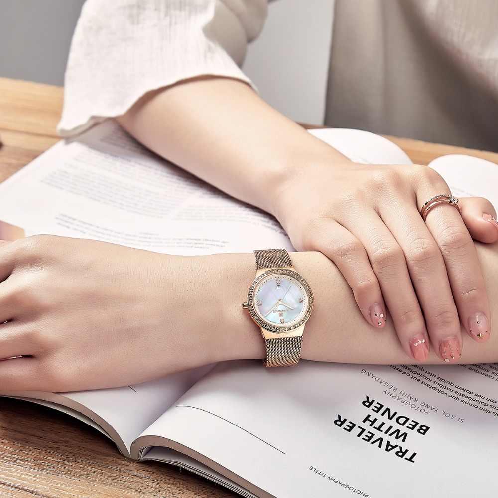 NAVIFORCE nowy kobiety luksusowej marki zegarek prosty kwarcowy pani zegarek wodoodporny kobieta moda Casual zegarki zegar reloj mujer