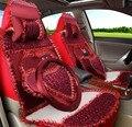 5 unids/set 2016 auto supply mujer encaje estilo de dibujos animados lovely girls encaje estilo fundas de asiento de coche cubierta de asiento de coche cojín