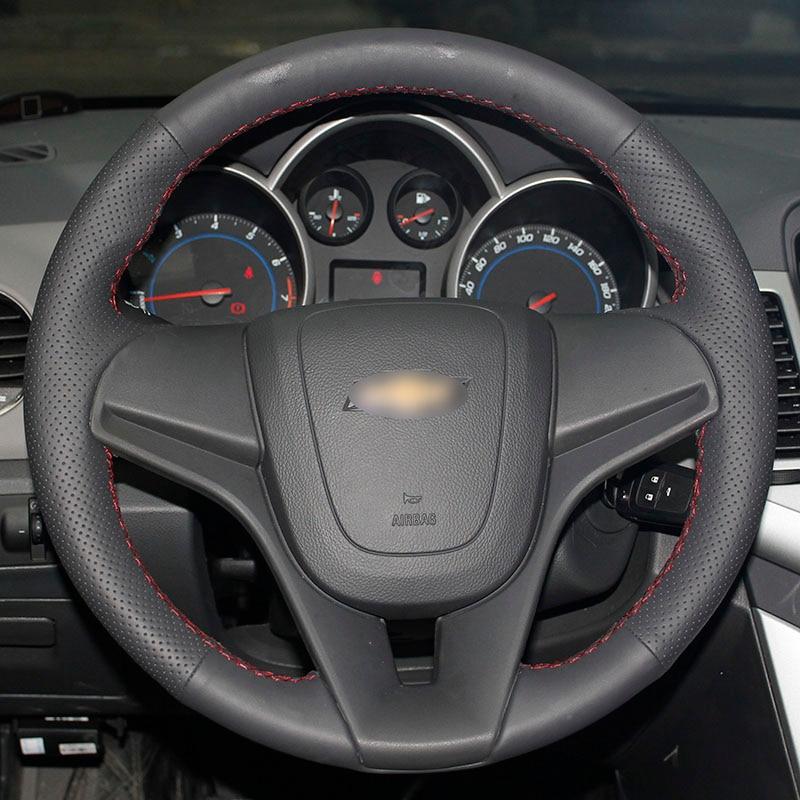 Chevrolet Cruze Aveo üçün BANNIS Qara Süni Dəri DIY Əl ilə - Avtomobil daxili aksesuarları - Fotoqrafiya 5