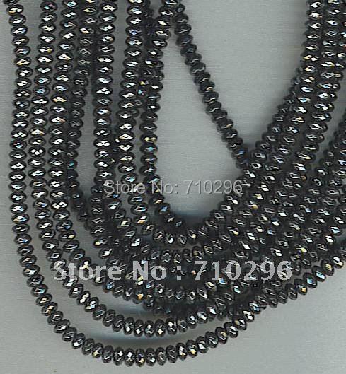 10 прядей/лот гематит 3*5 мм Ограненный гематит Roundel ювелирное изделие, бусы 40 см/str