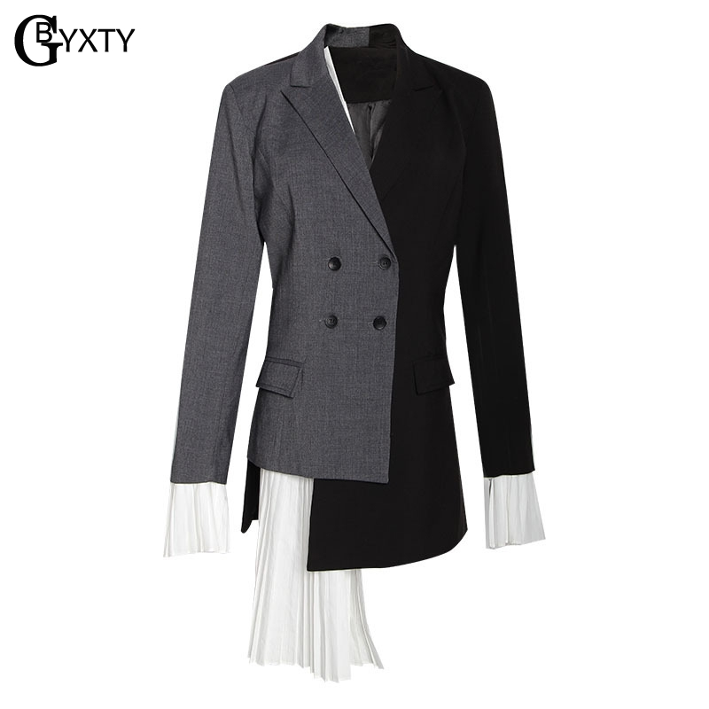 Feminino Splice Office Lady Slim Femmes Blazers Et Chic Gbyxty Fit Affaires Blazer Vestes Za1318 Ruches Longue qCwgSx5F