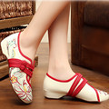 Spring summer 2016 women's singles shoes increased embroidered ethnic style old Beijing cloth dance walking shoes
