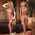 Бесплатная доставка Сексуальное женское белье большой ярдов сексуальные женщины пижамы пижамы флирт essentials искушение костюм оптовая