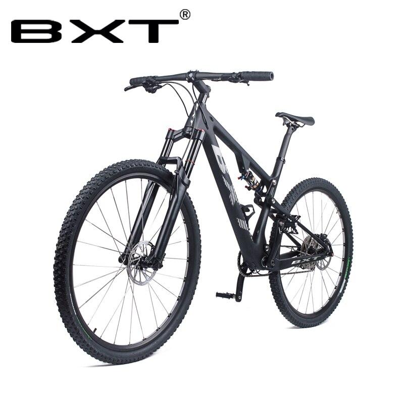 Nouveau VTT cadre 29er Fiber de carbone vtt vélo Boost Suspension vélo complet 1*11 vitesse 29er * 2.1 vtt pneu livraison gratuite
