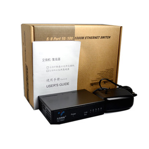 Image 4 - 5 Ports 10/100Mbps Fast Ethernet Switch Netzwerk Volle Halbe Duplex Transfer Hohe Leistung Mini Ethernet Switch HUB desktop RJ45