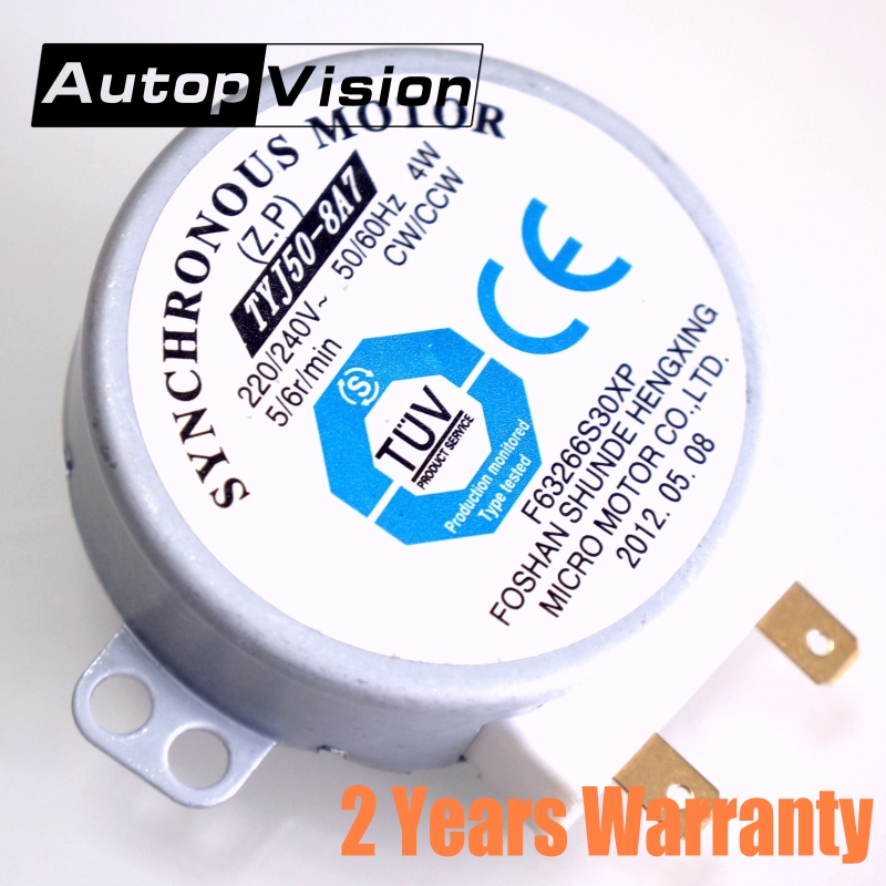 TYJ50-8A7 220-240V 4W 6RPM 48mm Dia Micro Synchronous Motor For Warm Air Blower 50/60Hz CW/CCW  Microwave Oven Tray Motor CCTV