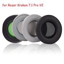 Foam Ear Pads Earpads Cushions Cover for Razer Kraken 7.1 Pro V2 V 2 Quartz Edition Headphones Headset With Buckle High Quality цена и фото