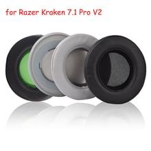 Foam Ear Pads Earpads Cushions Cover for Razer Kraken 7.1 Pro V2 V 2 Quartz Edition Headphones Headset With Buckle High Quality razer kraken 7 1 v2