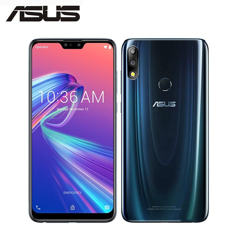 Global ASUS ZenFone Max PRO M2 ZB631KL 4G LTE 19:9 plein écran 6.3 pouces 1080x2280 p 4 GB 128 GB 2160 P Snapdragon660 OctaCore 5000 mAh