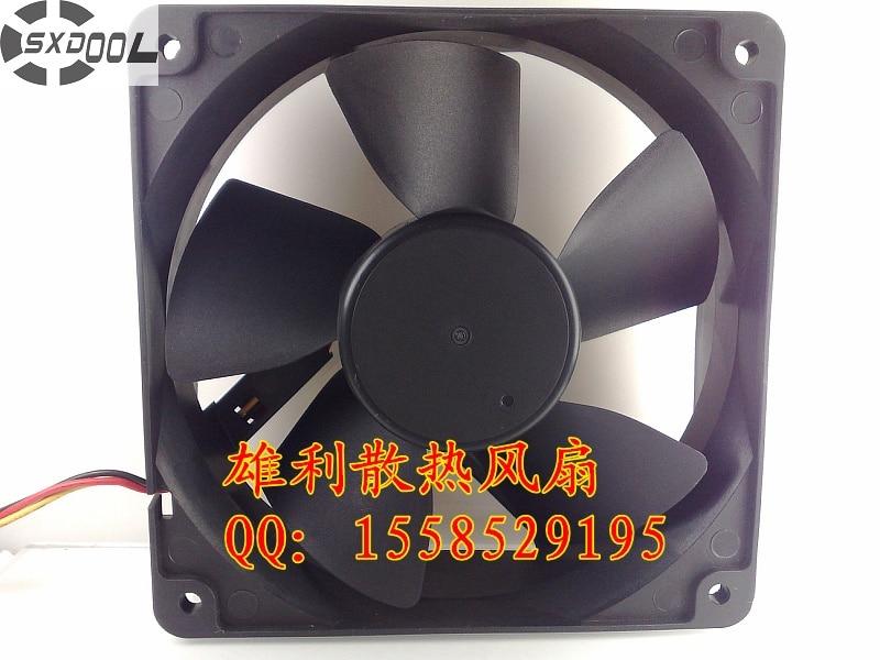 SXDOOL computer fan 120mm FD121238EB pc computer cooler 120mm fan 12V 0.83A 12CM 12038 3 wire cooling fans