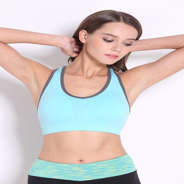 ece5a915a64 Zhangyunuo Women Yoga Bra Plus Size Sports Bra Tight Breathable Flex Gym  Yoga Padded MujerTop Fitness Workout Bras Underwear