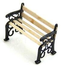 Хороший 1:12 деревянная скамейка металлические куклы дом миниатюрная мебель для сада аксессуары