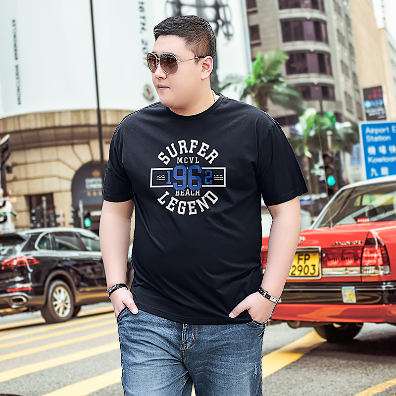 2018 Plus size 8XL O-neck summer mens clothing Casual TOPS printed short sleeve Tshirts relaxed fit