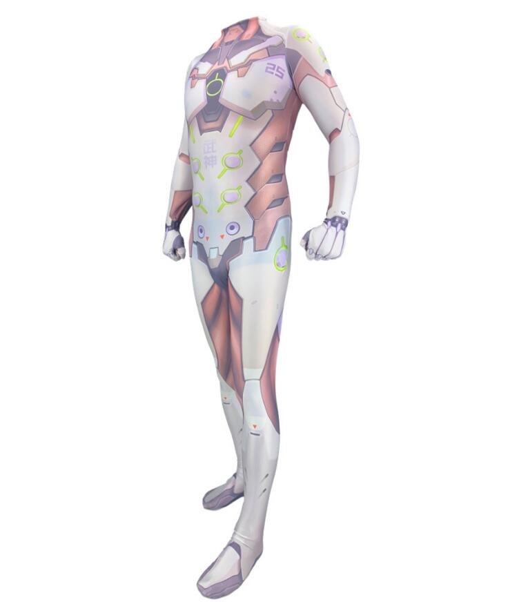 Game Saints' All Hallows' Day Overwatch Genji Cosplay Costumes 3D Printed Halloween Zentai Jumpsuit Tights for Adults/Kids 3