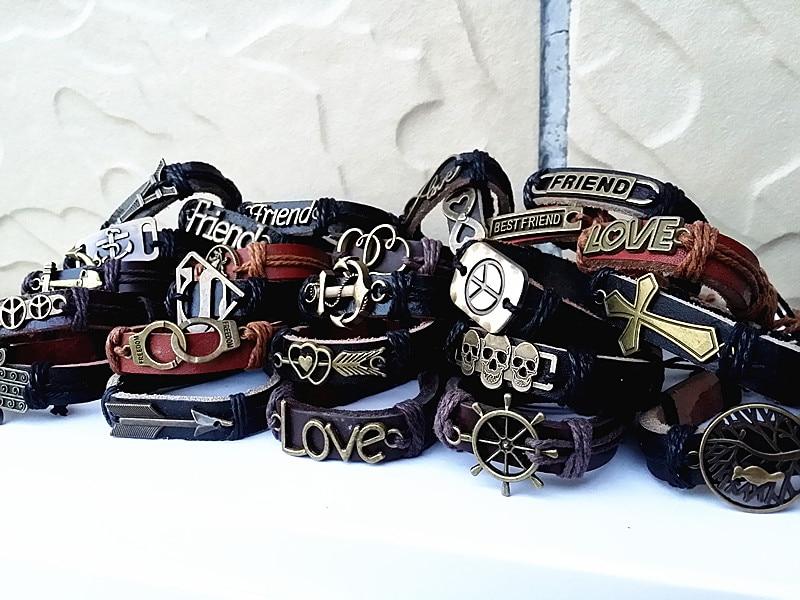 Großhandel groß viele 100 stücke gemischt stile vintage legierung leder Ethnische Tribes manschette armbänder-in Manschette Armbänder aus Schmuck und Accessoires bei  Gruppe 3