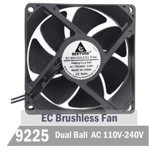 цена на 5pcs Gdstime 90mm EC Cooling Fan 92mm AC Cooling Fan 92mm x 25mm 110V 115V 120V 220V 240V Brsuhless Cooler Axial Fan