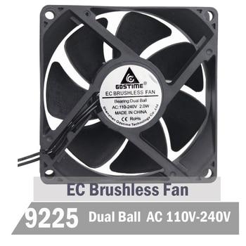 5pcs Gdstime 90mm EC Cooling Fan 92mm AC Cooling Fan 92mm x 25mm 110V 115V 120V 220V 240V Brsuhless Cooler Axial Fan ta15052hbl 2 axial cooling fan ac 220v 0 18a 17252 17cm 172 150 52mm 2 wires 50 60hz
