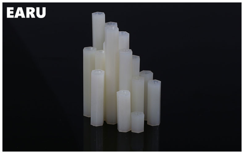 50PCS  White Plastic 4.8degree  Nylon M5  External HEX Column Standoff Spacer Phillips Screw плавкий предохранитель roc 50 m5 spacer