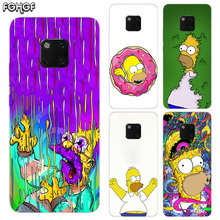 Homer J.Simpson TPU Silicone Phone Back Cases For Huawei Mate 20X 20 10 9 Pro 8 7 Shell Hull Heart Bumper Cover