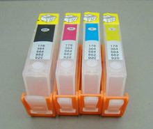 4pcs for HP564 for hp 564 refillable Ink cartridge for hp 3070A 5510 6510 3520 4620 5520 5514 B109a B109n B110a B209a B210a