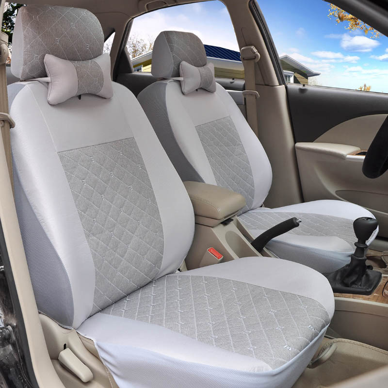 Yuzhe flax Universal car seat covers For Ssangyong Rodius ActYon Rexton Korando Tivolan XLV car accessories styling cushion front rear high quality leather universal car seat cushion seat covers for ssangyong korando actyon kyro auto seat protector
