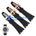 Pulseira de borracha Sports watch strap Preto 28mm Dos Homens de alta qualidade Assista acessórios relógios de pulso banda de silicone uso para AP