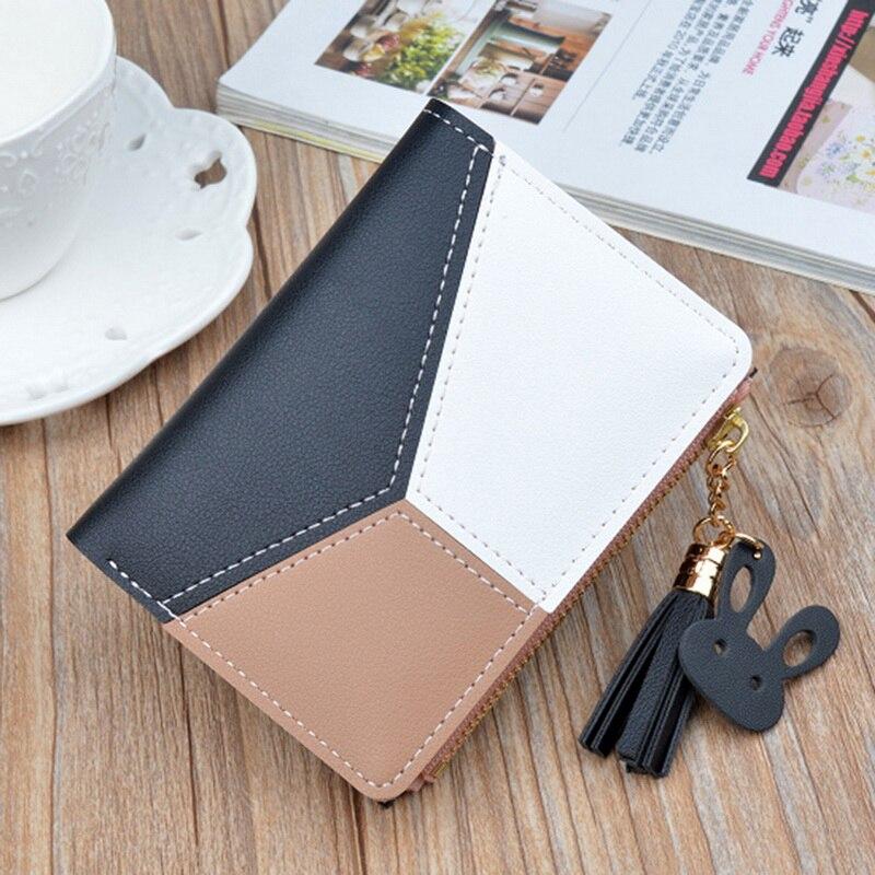 Кожаный кошелек для женщин, роскошный длинный клатч, Дамский кошелек, держатель для карт с кисточками, женские кошельки на молнии, для монет, телефона, денег, карман, сумка W052
