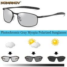 Фотохромные серые поляризованные солнцезащитные очки по рецепту