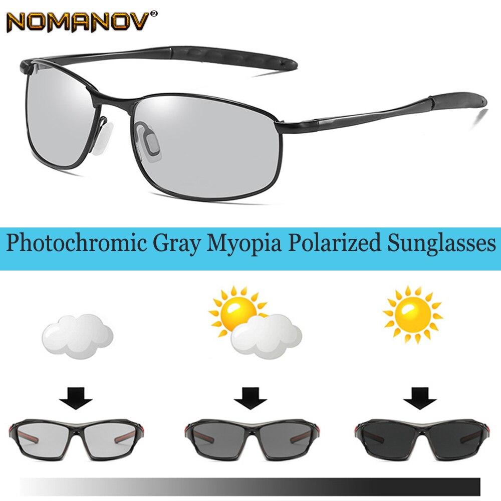 Fotocromatiche GRIGIO Occhiali Da Sole Polarizzati Occhiali Da Sole Su ordine Miopia Meno Prescrizione di Lenti a-1-1.5-2-2.5- 3-3.5-4 A-6