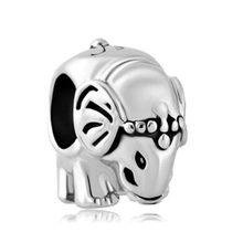 Free shipping Antique' D Plated Silver/ P Thailand Elephant Animal For Charms Beads Fit Pandora bracelet(China)