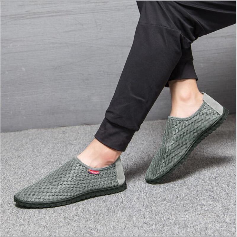 2018 nya sommar breathable ljus mäns skor herr vuxna vardagliga skor - Herrskor