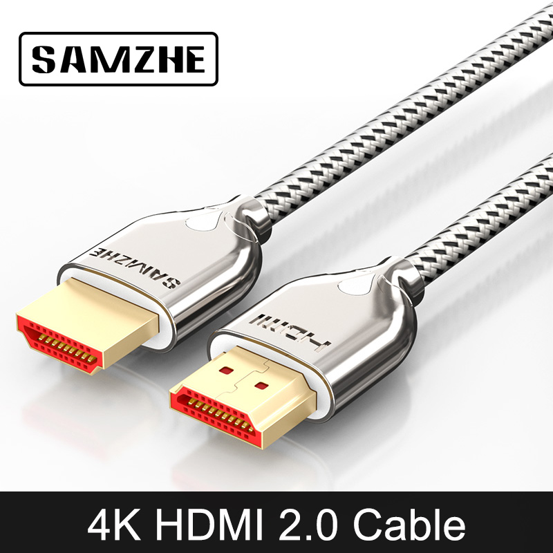 SAMZHE 4K*2K/60Hz HDMI 2.0 Cable Audio&Video Cable 32AWG HDMI UHD Cable for Projector XBox TV BOX Laptop and TV Screen hubatka audio sweetening for film and tv