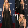 Stunning Black Sequins See Through Tulle Sexy 2014 71st Golden Globe Ashley Tisdale Evening/Celebrity Red Carpet Dresses