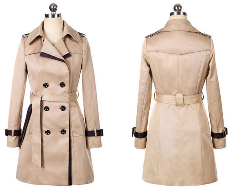 HEE GRAND Women   Trench   Coat 2019 Autumn Plus Size 3XL Black Coat Slim Waist Outwear Winter Double Breasted Belted Coats WWF910