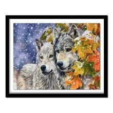 Бриллиантовая картина, алмазная вышивка, животные, волк, 5d, сделай сам, алмазная живопись, полная квадратная картина, стразы 485DD, бриллиант
